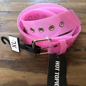 NWT Hot Topic Clear Pink Jelly Belt XL